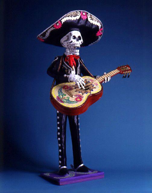 Dia De Los Muertos Calacas Skeleton Musician Calavera