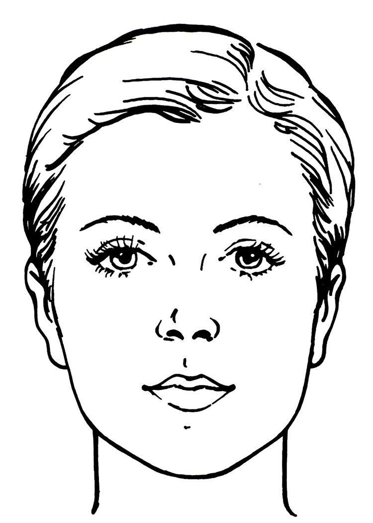 Gesicht Zum Schminken Makeup Face Charts 4