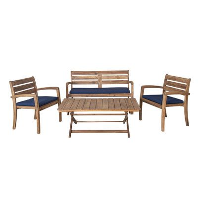Awe Inspiring Xcella Cyprus 4 Piece Dining Set With Cushions New House Uwap Interior Chair Design Uwaporg