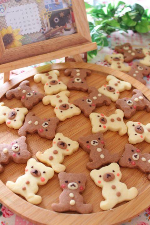 くまさんクッキー作りました 参考にさせていただいたレシピはコチラ→*くまサンクッキー* 仲良くさせていただいているaico ちゃんのブログを見て、私も作りた…