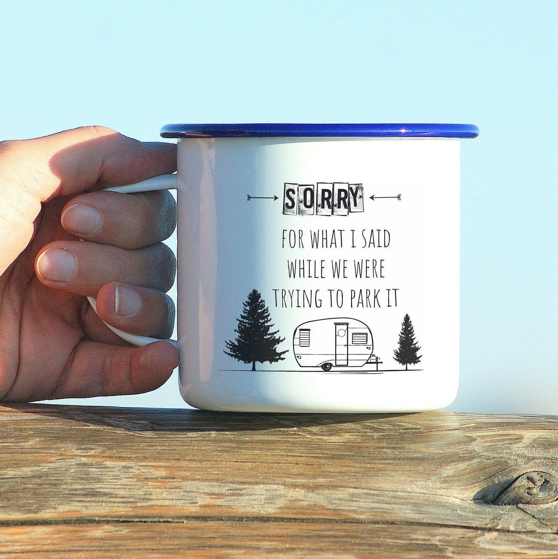 Camper gifts, Custom Camping Mug, Campfire Mug, Personalized Mug, Camper Mug, Custom Enamel Mug, Happy Camper Mug, Outdoor Mug, Trailer Gift #custommugs