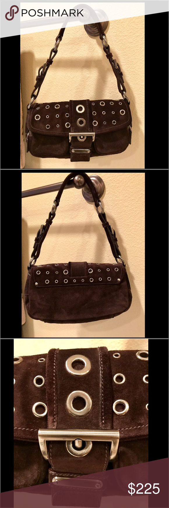 NWOT Authetic Prada mini suede purse with dust bag NWOT Authetic Prada  espresso brown mini suede purse with dust bag. Absolutely gorgeous! Prada  Bags Mini ... b82c2efbb1