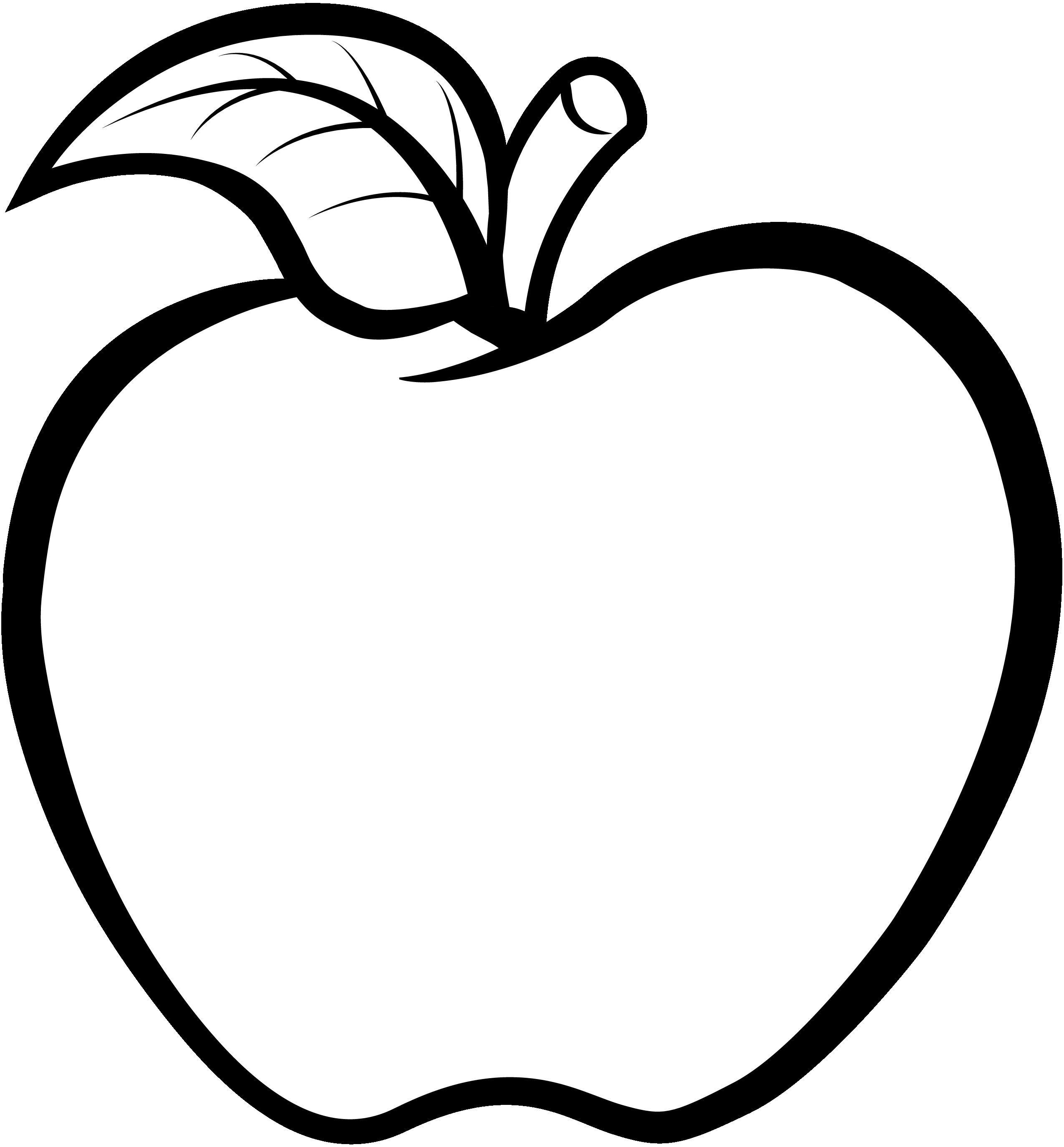 Abekadigital Apple Line In Buah Apel Clipart