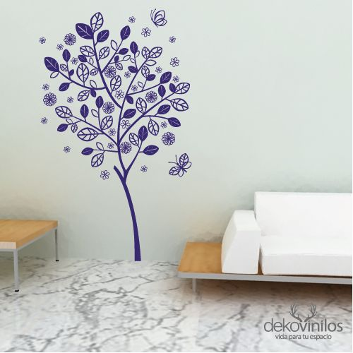 Vinilo - Arbol Bailando #vinilos #decoración #dekovinilos #arbol - wohnzimmer gelb streichen