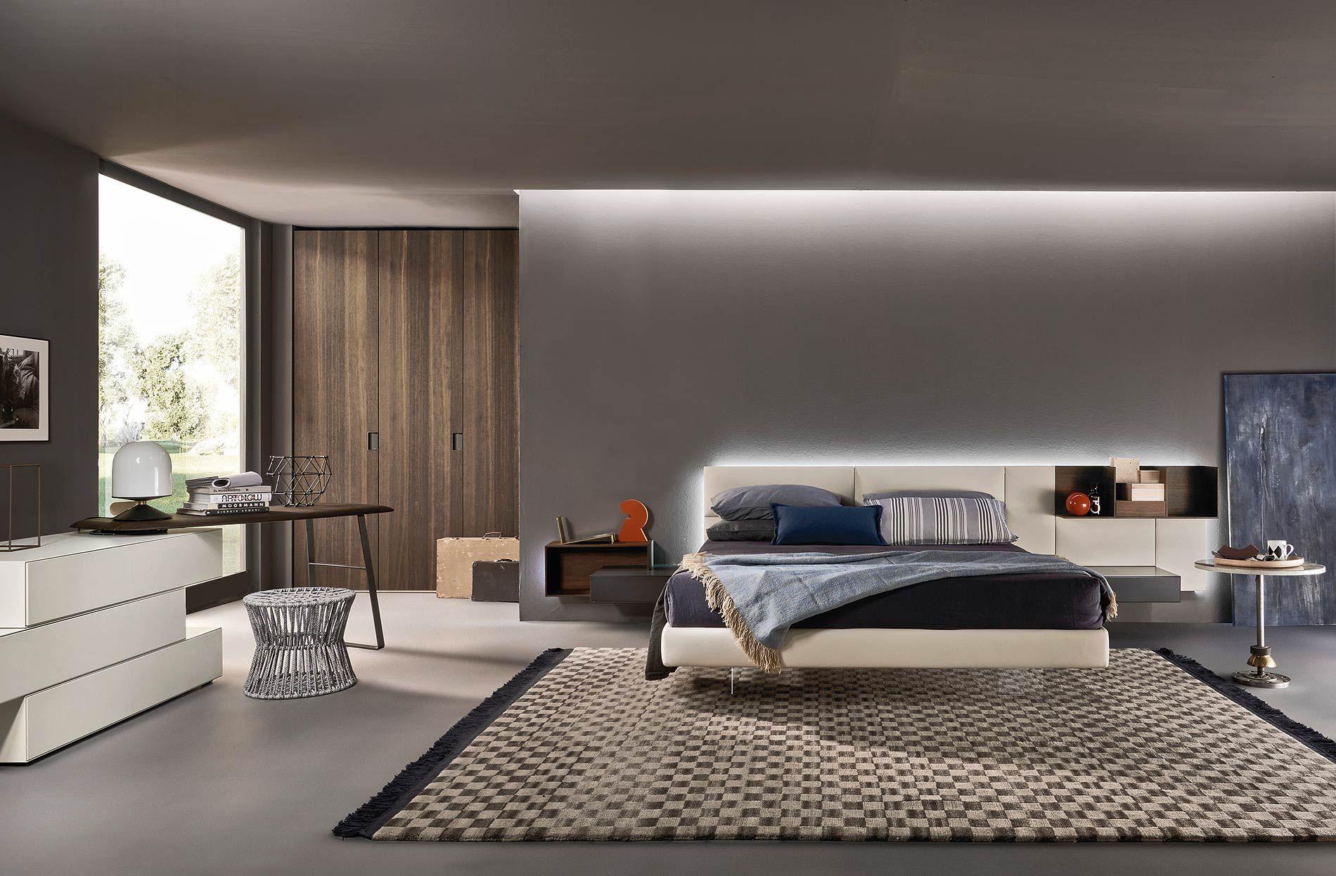 modernes schlafzimmer von livitalia mit schwebendem bett und design kommode mit schminktisch. Black Bedroom Furniture Sets. Home Design Ideas