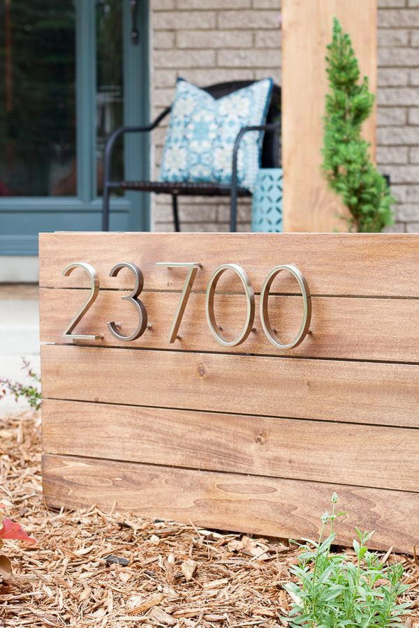 How to make a DIY address sign for your yard House
