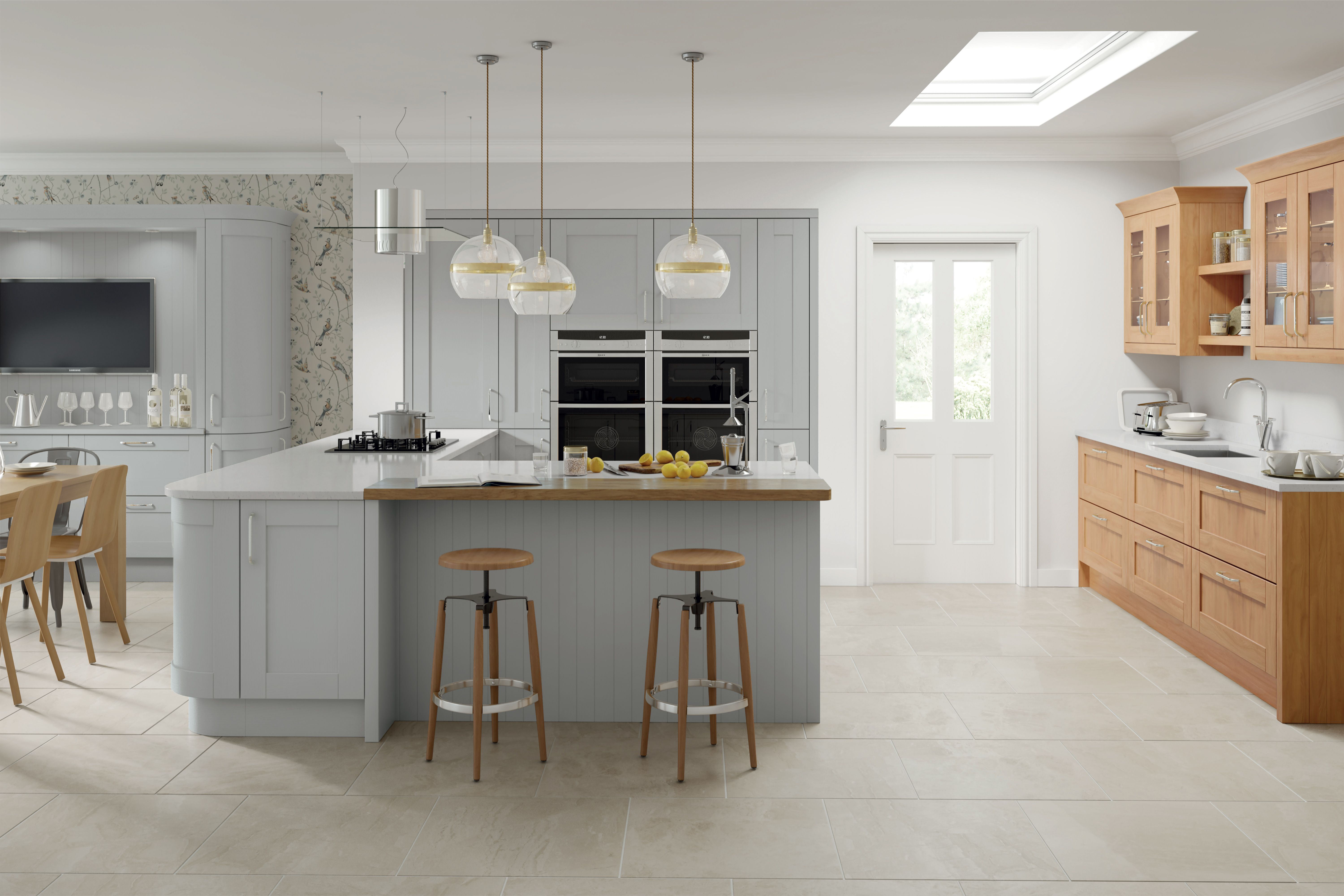 Cambridge Hand Painted Silver Grey Grey Kitchen Cabinets Grey Shaker Kitchen Light Grey Kitchens