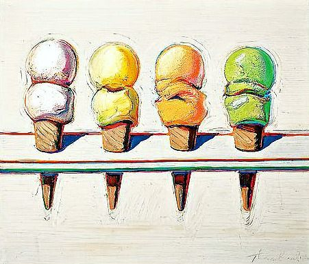 Wayne Thiebaud Four Ice Cream Cones 1964 | WAYNE THIEBAUD ART ...