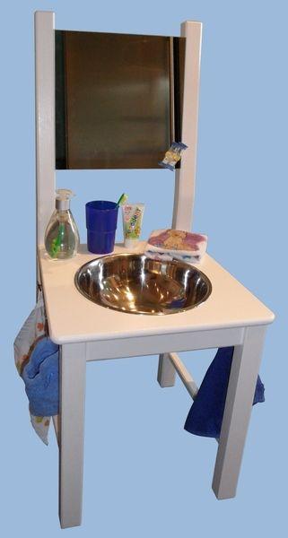 Waschtisch Waschstuhl Lernturm Kinderwaschbecken Waschbecken