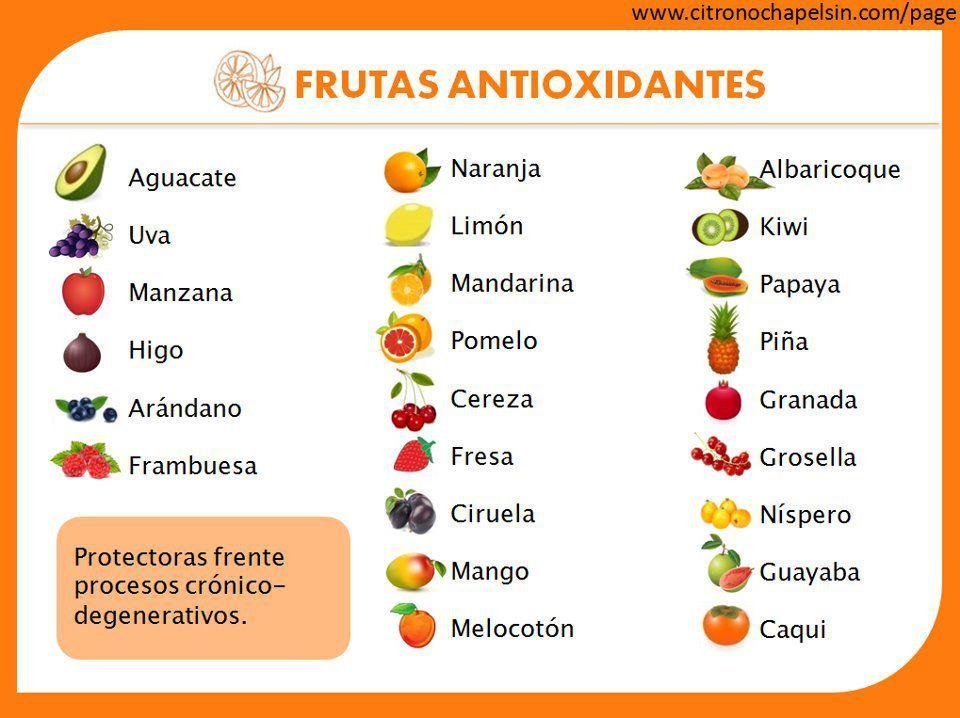 Frutas antioxidantes