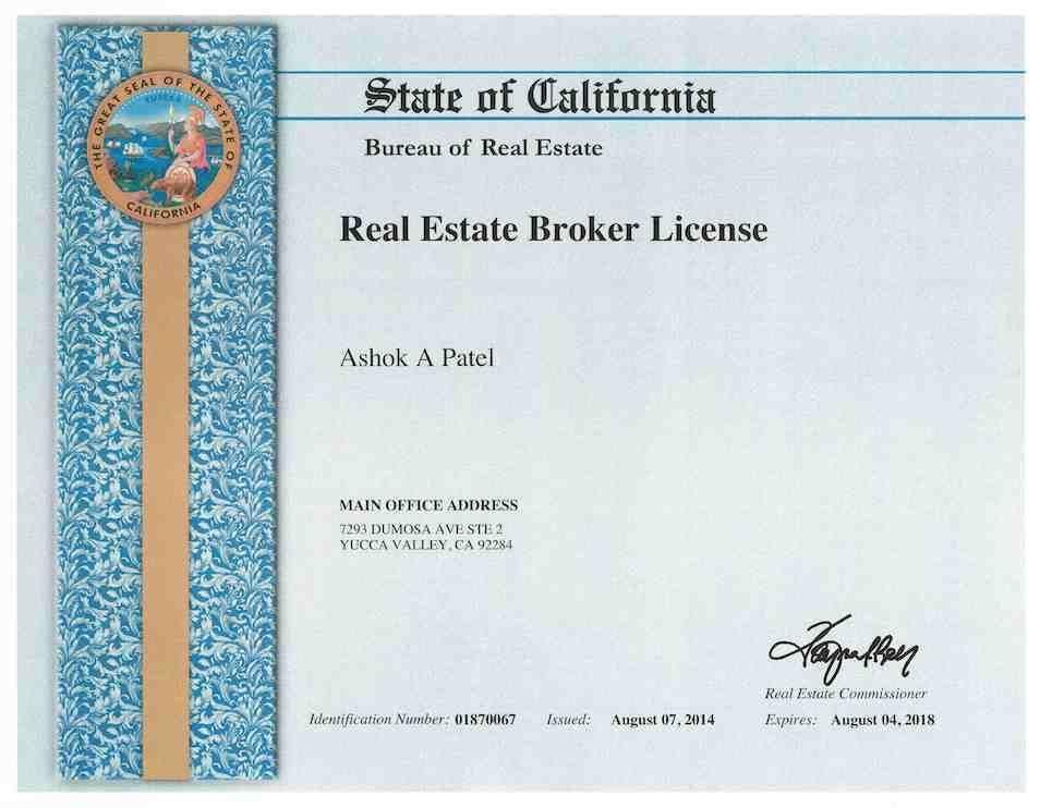 Real Estate Broker License Certificate Real Estate Pinterest