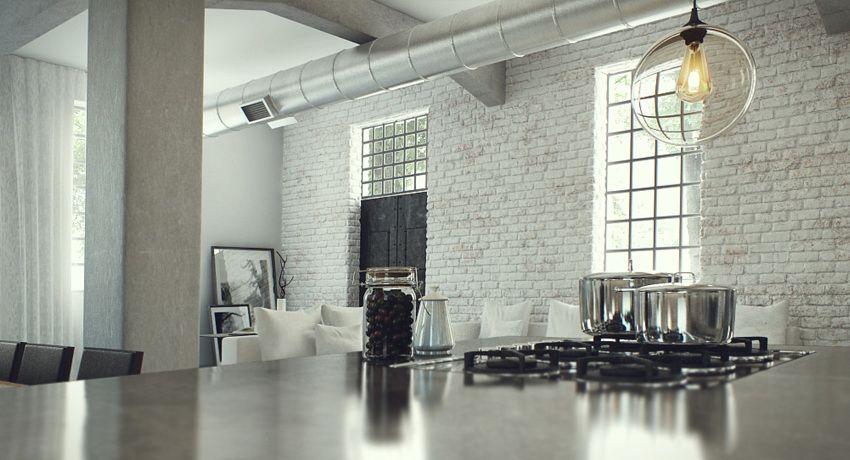 Industrial Lofts Inspiration Studio Aiko 2 Bricks