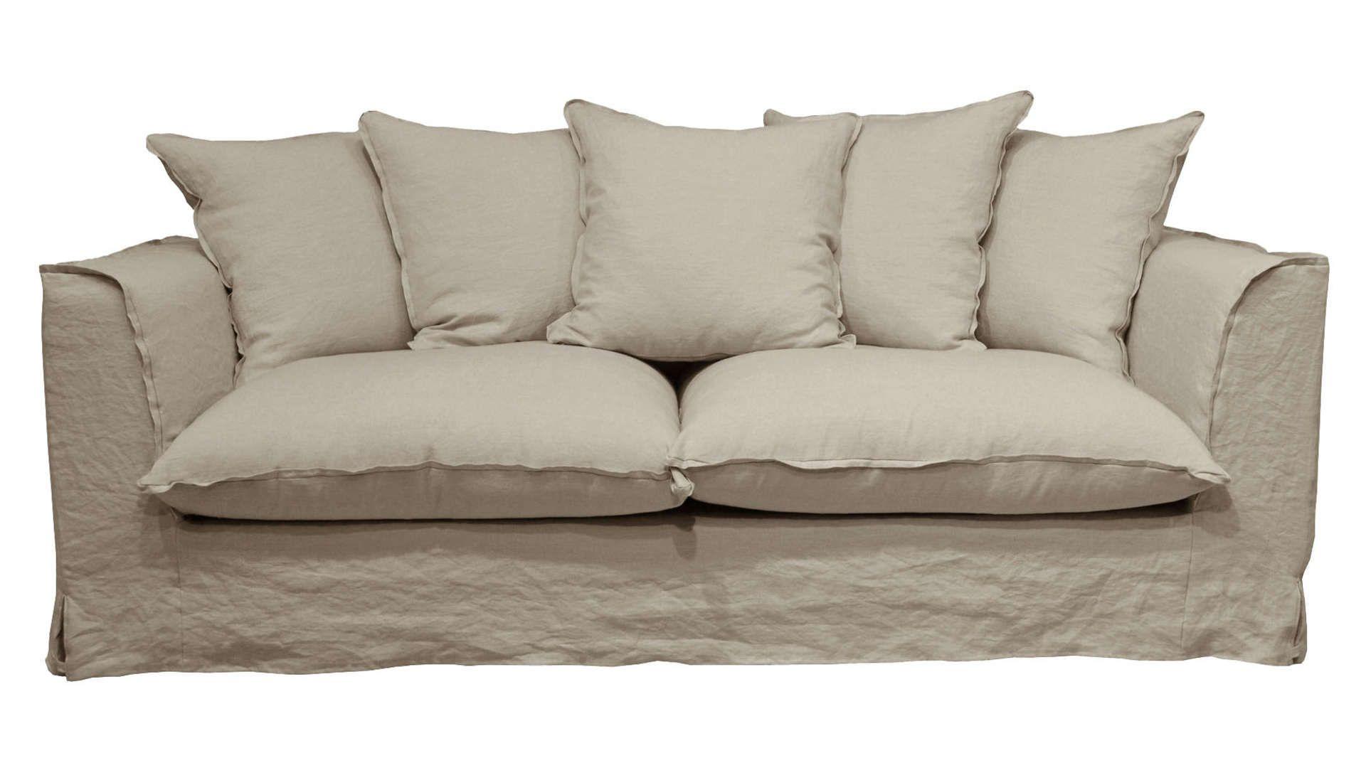 Canape Fixe 3 Places En Tissu Cocoon Coloris Ficelle Canape Fixe 3 Places Canape Fixe Et Canape Droit