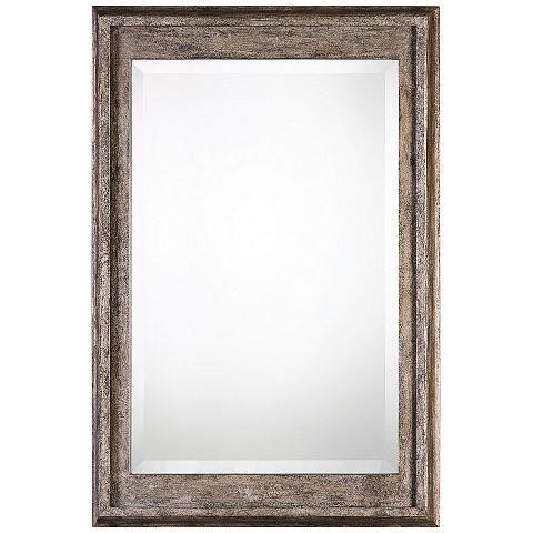 Uttermost Allegan Silver Leaf 25 X 36 3 4 Wall Mirror