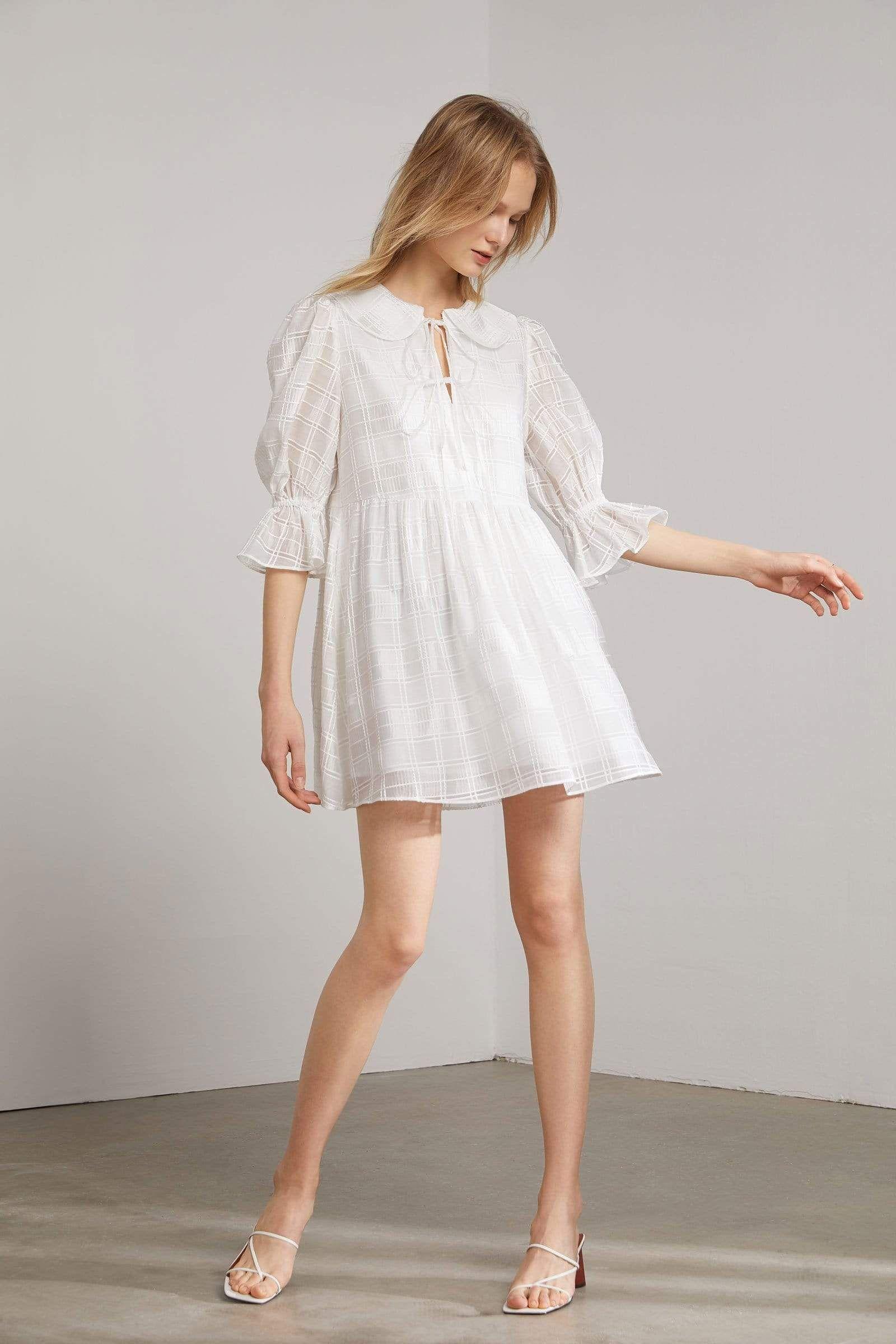 Dahlia sheer white shift dress in 2020 white shift