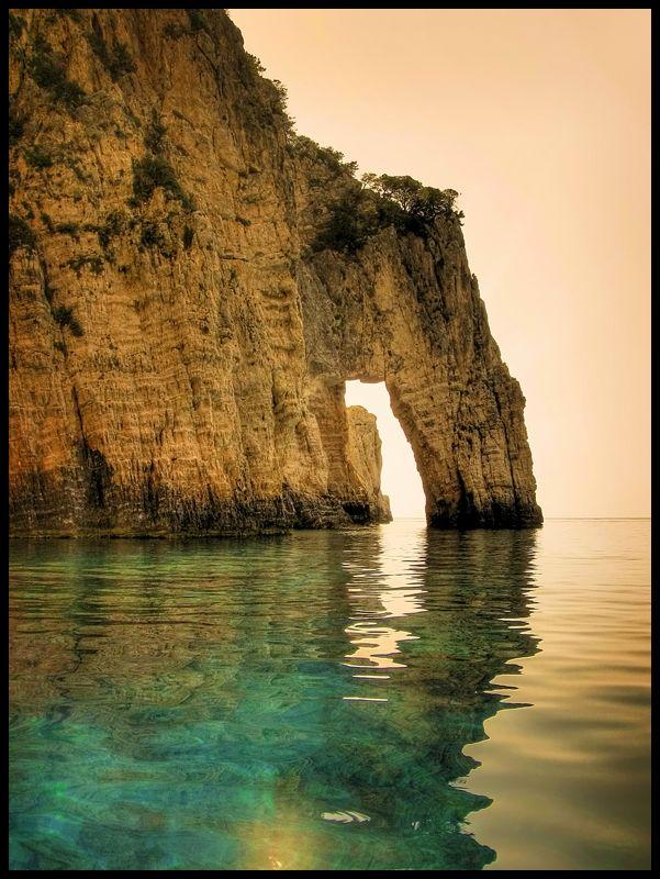 Blue Caves Arch by kuma-x
