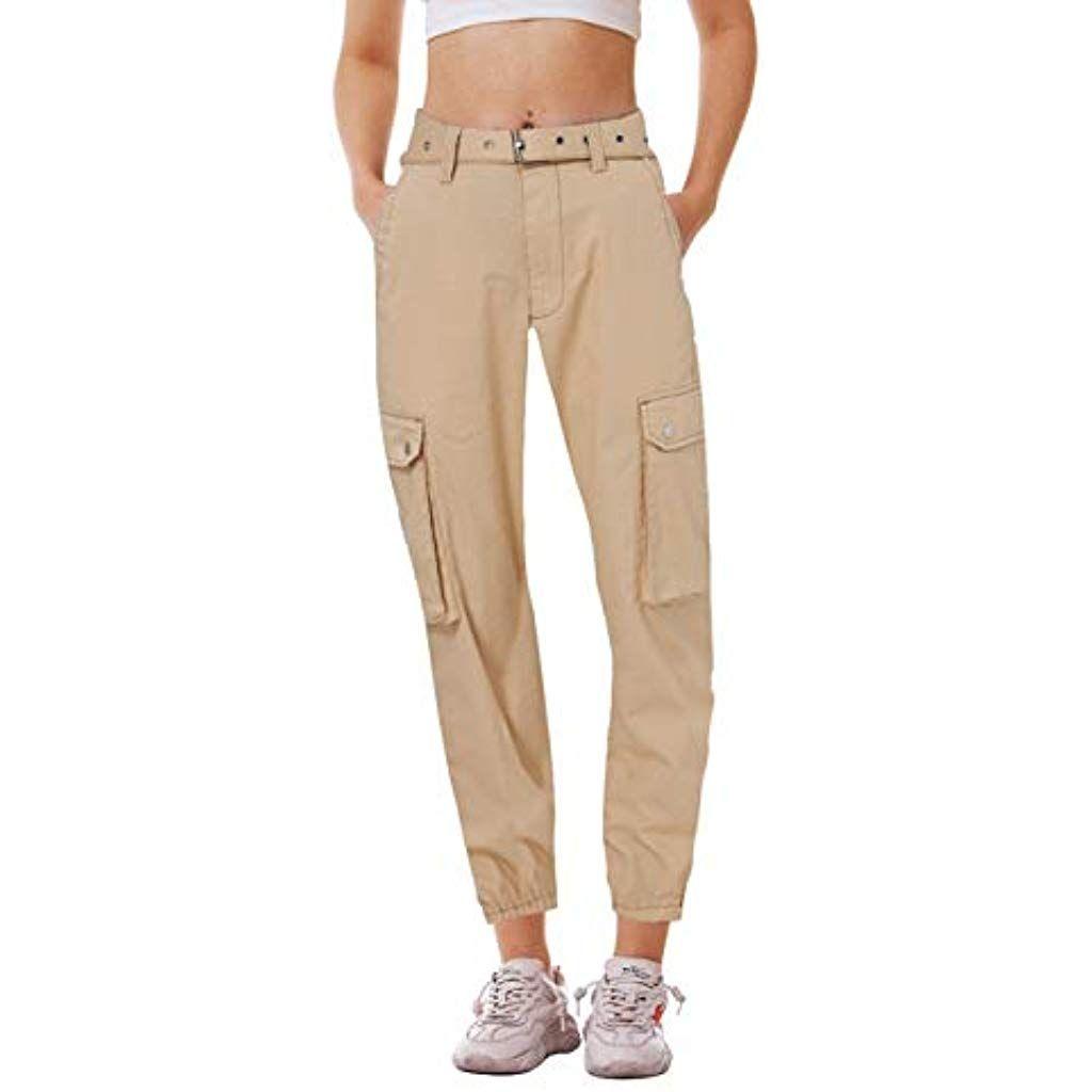 Fanient Damen Hosen Camouflage Jogginghose Sporthose