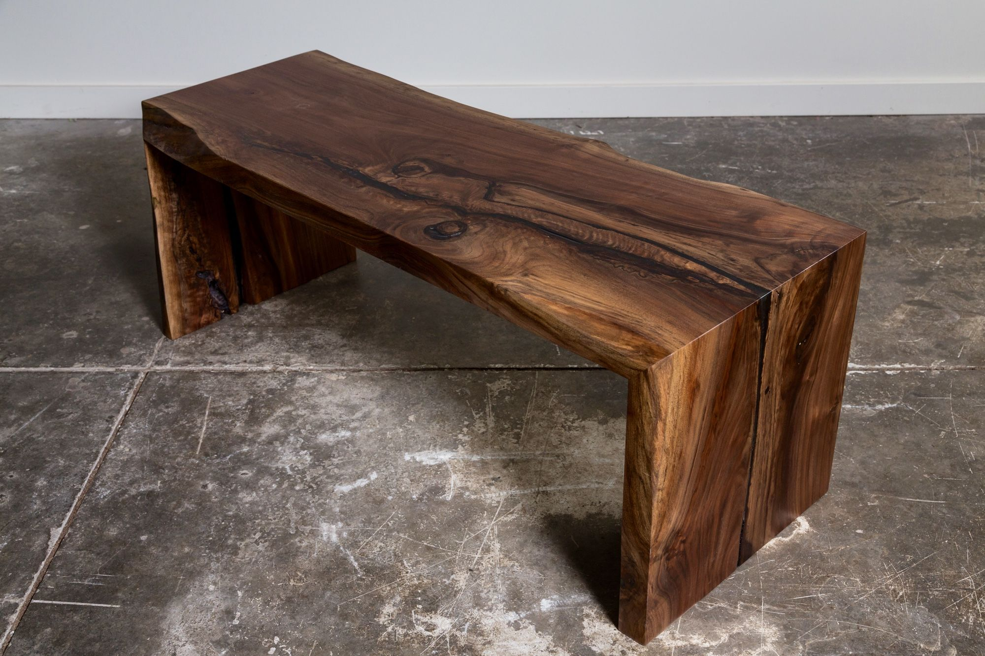 Walnut Waterfall Bench Or Coffee Table Coffee Table Farmhouse Woodworking Inspiration Live Edge Furniture