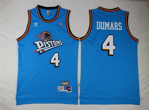 Detroit Pistons #4 Joe Dumars White Swingman Throwback Jersey