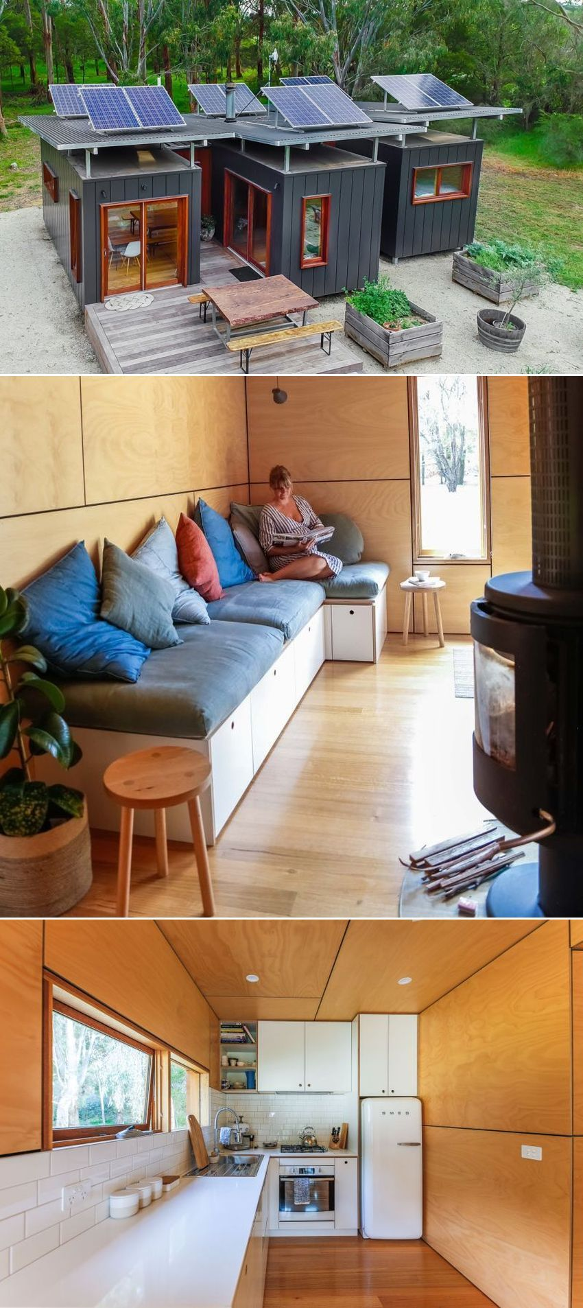 Couple Makes Spacious House Out of Three Shipping Containers