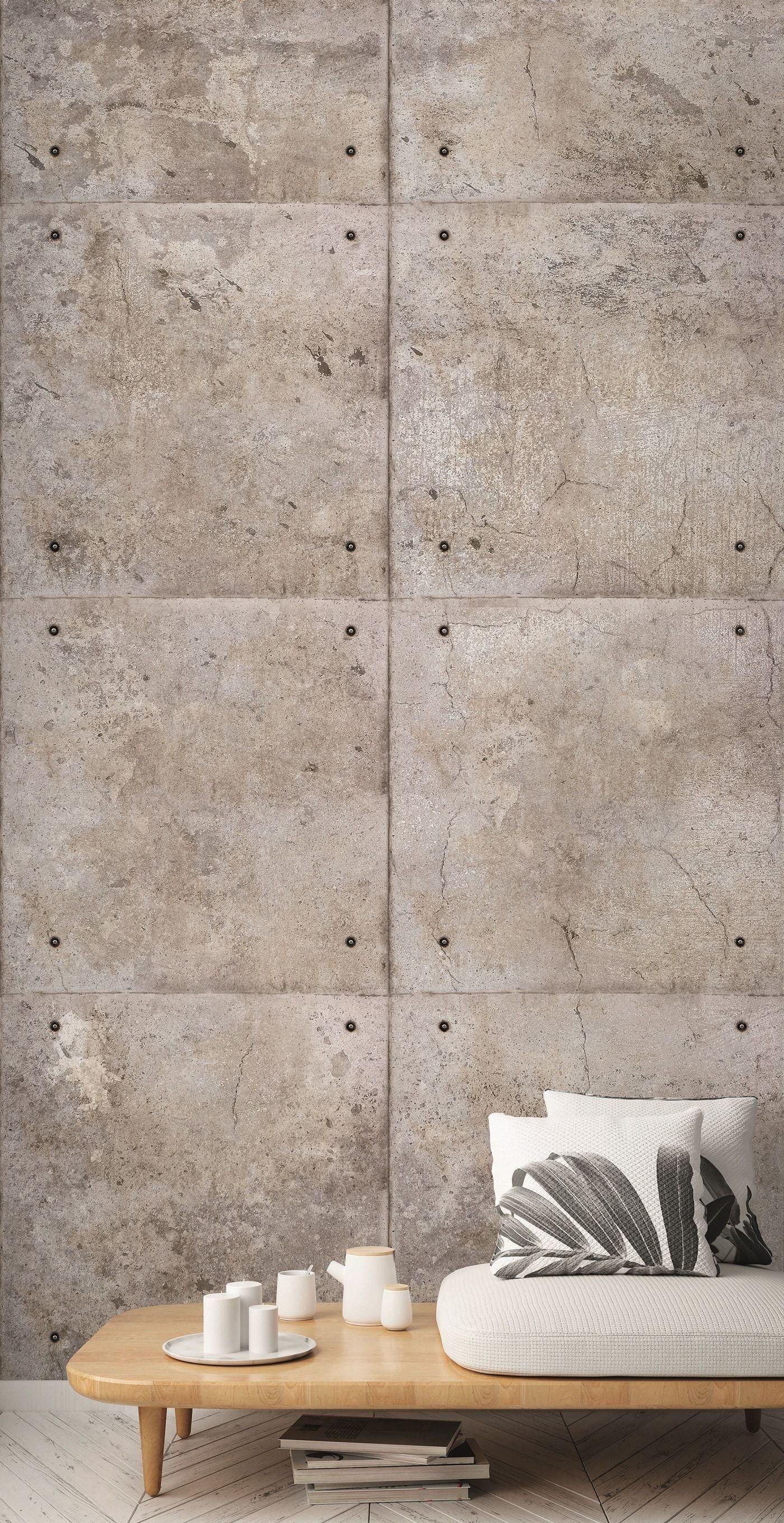 Vlies Fototapete 3d Beton Blocke Wand Grau Wandbild 1 59mx2 80m Steinwandfliesen Fototapete Tapeten
