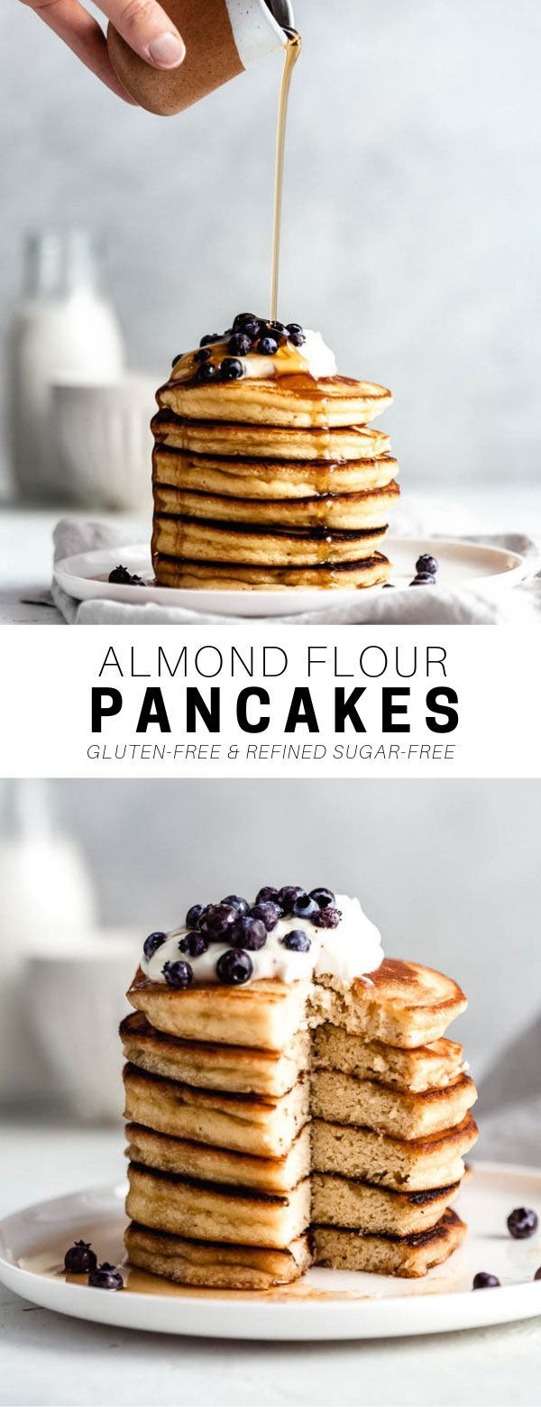 Fluffy Almond Flour Pancakes - Choosing Chia