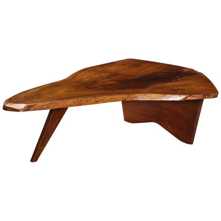 George Nakashima Coffee Table In 2020 Coffee Table Walnut