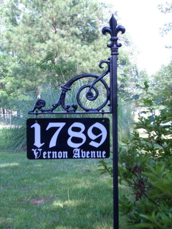 The Victoria Reflective Address Sign Decor Ideas Amp Items