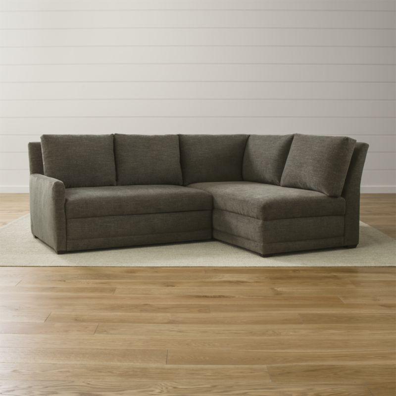 Reston 2 Piece Left Arm Loveseat Trundle Sleeper Sectional Sofa Sectional Sofa Sectional Sleeper Sofa Sleeper Sectional
