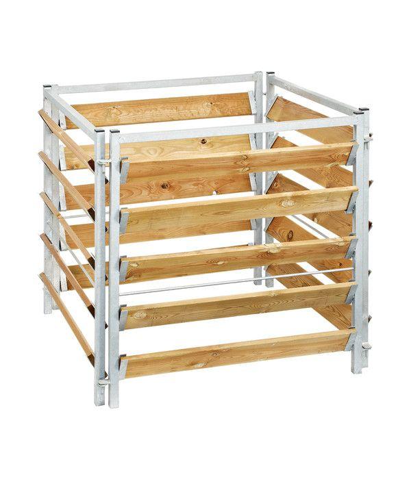 Bellissa Kompostersilo Metall Holz 100 X 100 X 100 Cm Kompost Holz Larchenholz