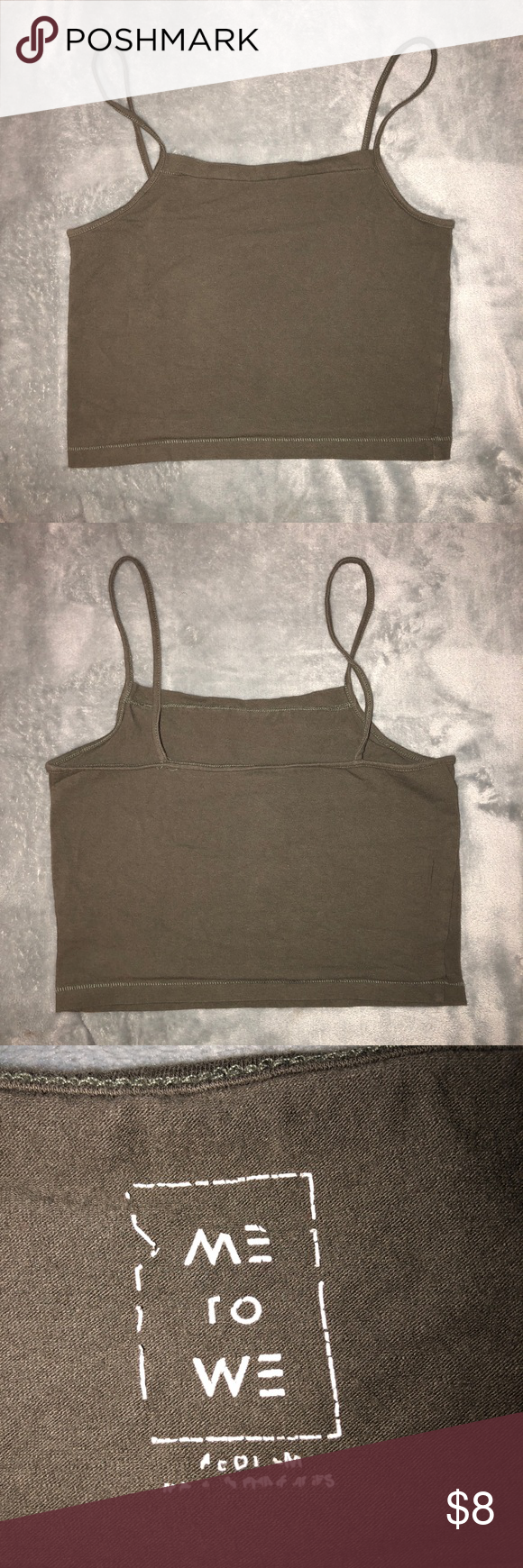 Sale Olive Green Crop Top Size Medium Olive Green Crop Top From Pacsun Size Medium No Flaws Pairs Well With Bandeau M Green Crop Top Crop Tops Olive Green
