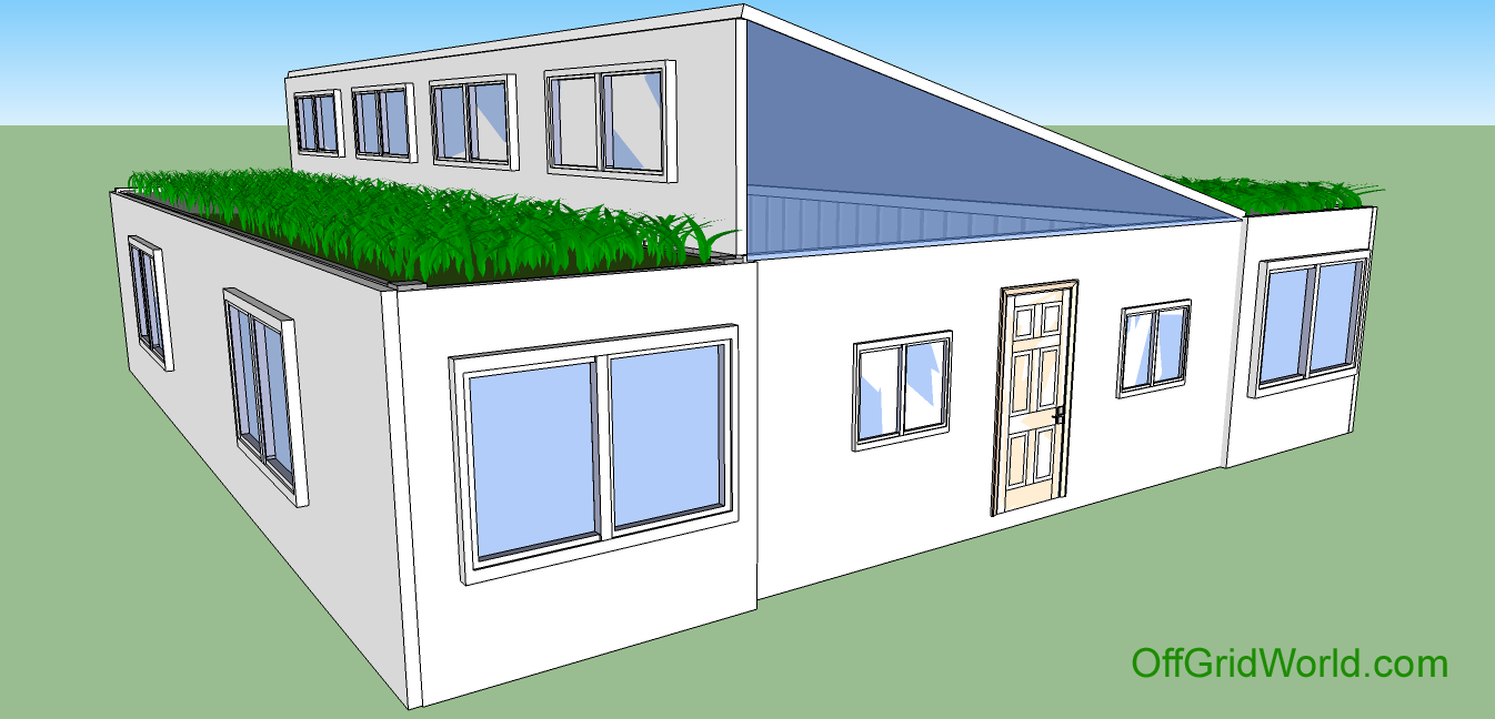 Sqft br ba shipping container home with living roof theory