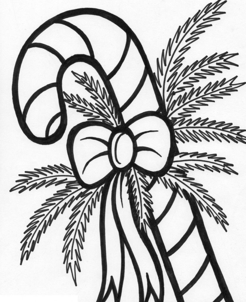 Free Printable Candy Cane Coloring Pages For Kids Christmas