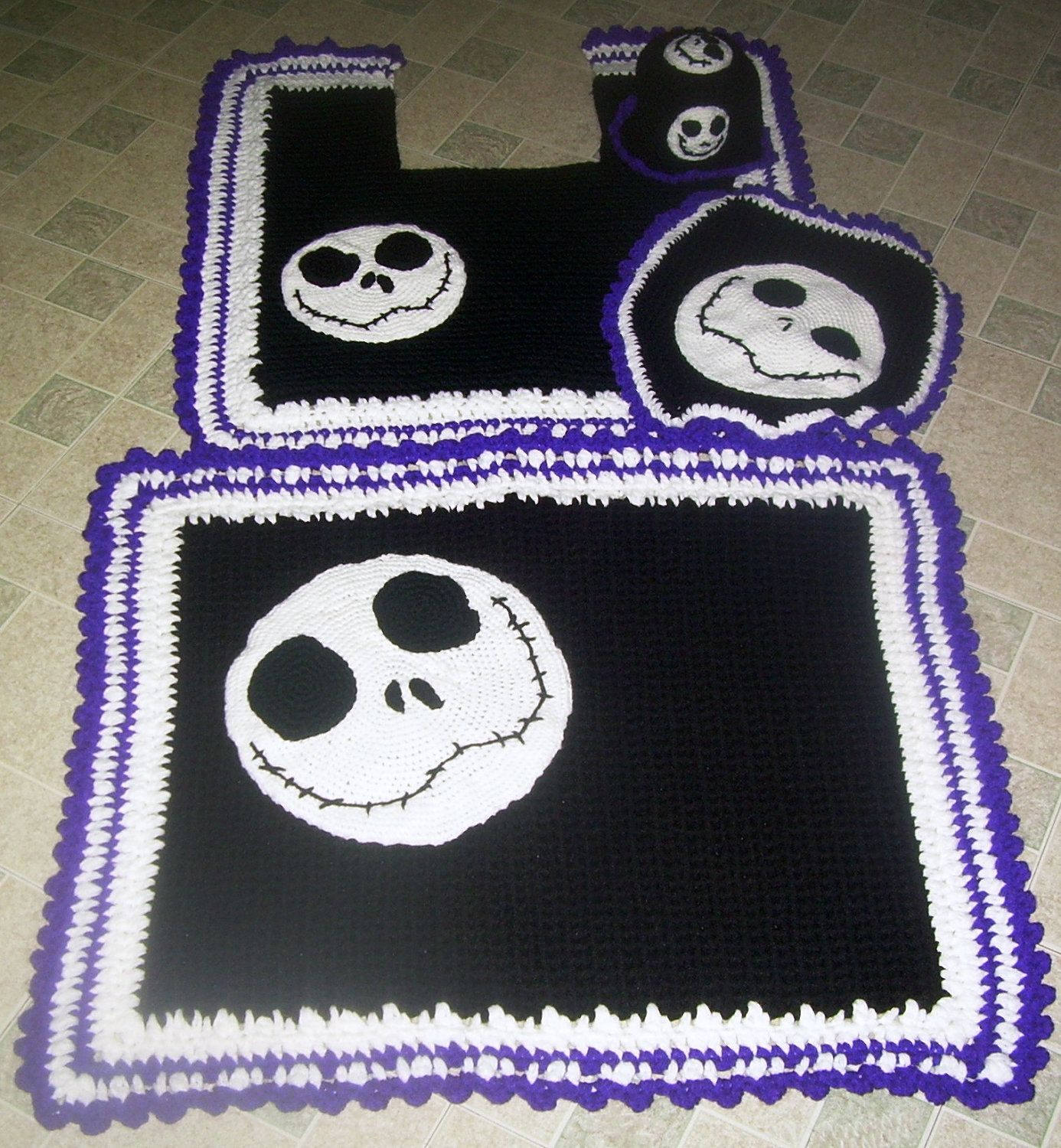 Jack skellington bathroom set - Jack Skellington Nightmare Before Christmas Bath Set 60 95 Via Etsy