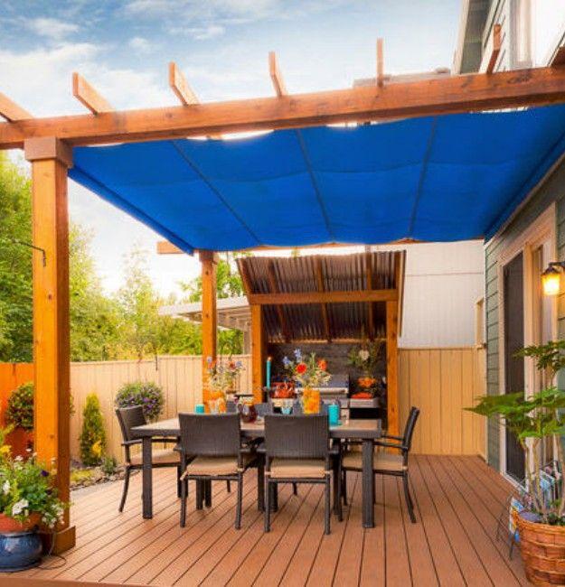 Pergola Rain Covers | Pergola patio, Patio shade, Deck ... on Patio Cover Ideas For Rain id=90676