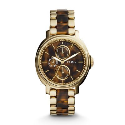 Chelsey Multifunction Tortoise and Acetate Watch