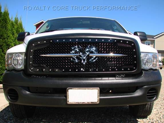 Royalty Core Dodge Ram 1500 2002 2005 Rc2 Main Grille Twin Mesh With Goat Skull Logo Dodge Ram 1500 Dodge Ram Dodge