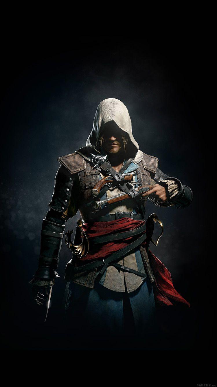 Assassins Creed 4 Dark Game Art Illust Wallpaper Hd Iphone