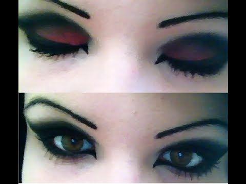 dark eye makeup tutorial gothic/emo/scene/alternative