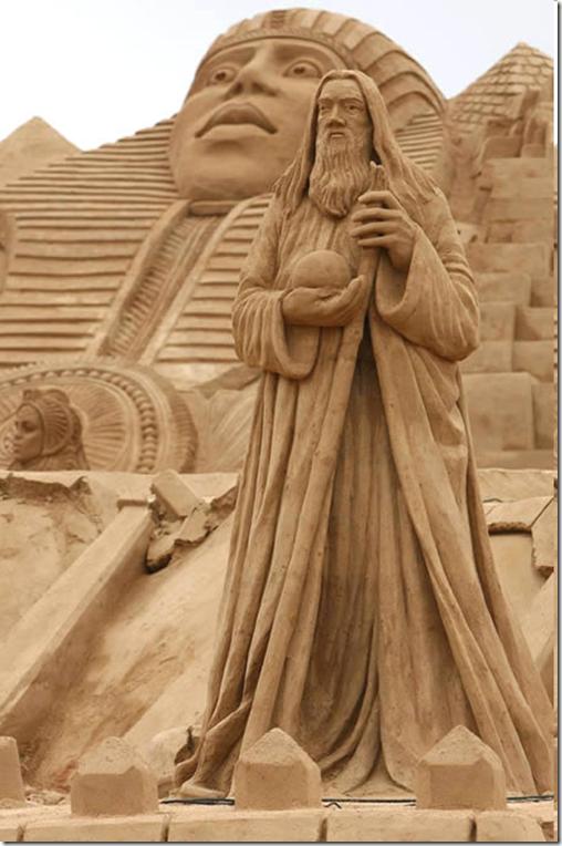Egyptian sand sculptures