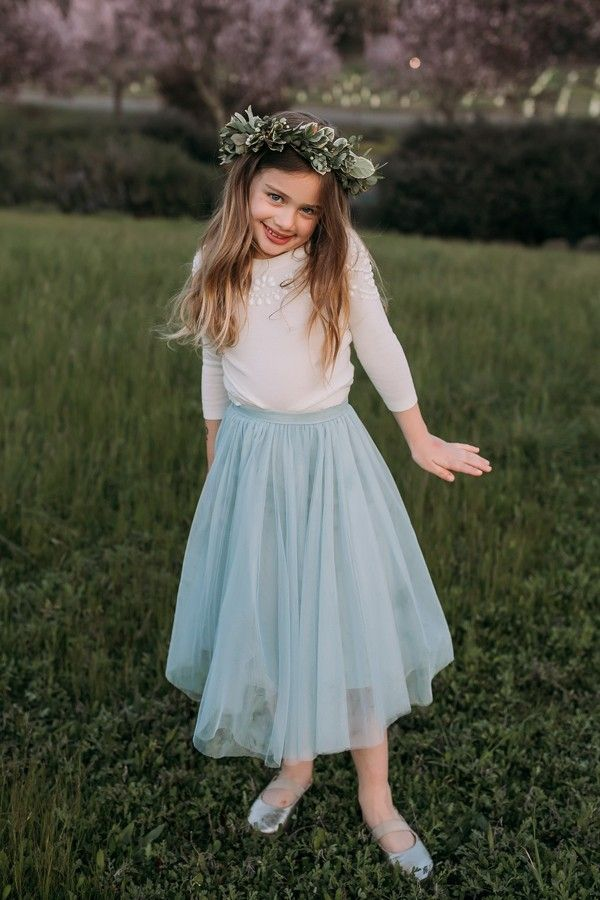 Mini Lucy shown in Morning Mist • Bridal Party • Flower Girl Look ...