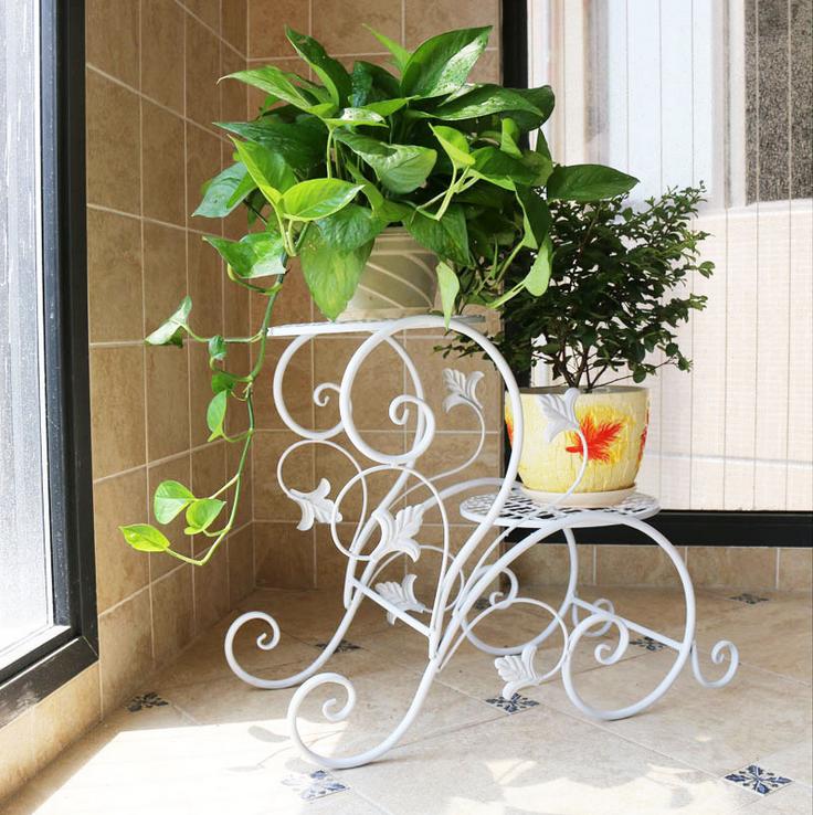Resultado de imagen para soportes para plantas hierro - Soportes para colgar macetas ...