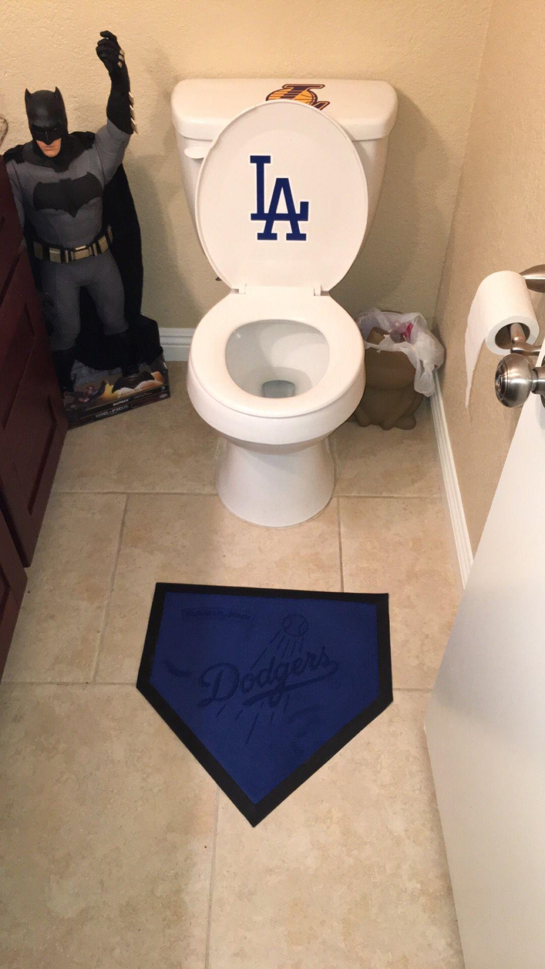 dodgers bathroom baseball room boys