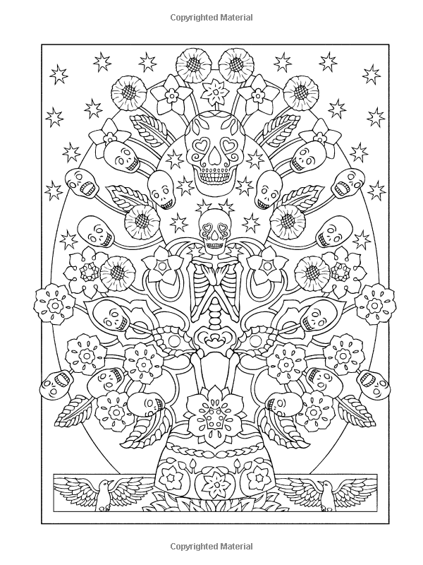 Creative Haven Day of the Dead Coloring Book (Creative Haven ...
