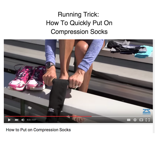 Running Hack How To Quickly Put On Compression Socks Compression Socks Running Tips Running