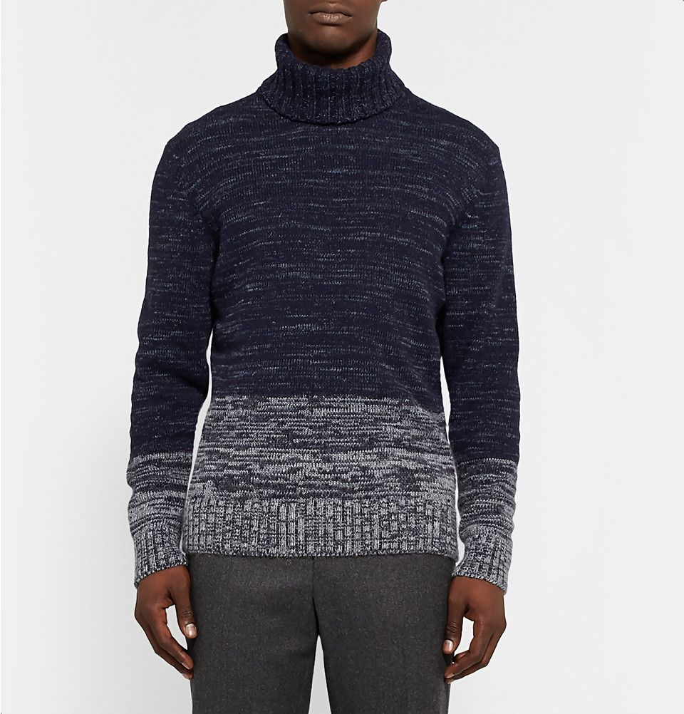 Hugo Boss - Space-Dyed Knitted Rollneck Sweater | MR PORTER