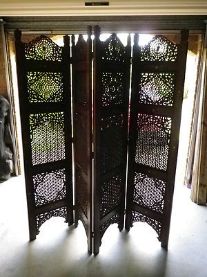 Ornate Wooden Screen Wooden Screen Room Divider Screen Ornate