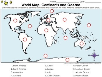 World map continents and oceans locate places on a map 2 king world map continents and oceans locate places on a map 2 north america europe asia south america africa australia antarctica arctic ocean gumiabroncs Images