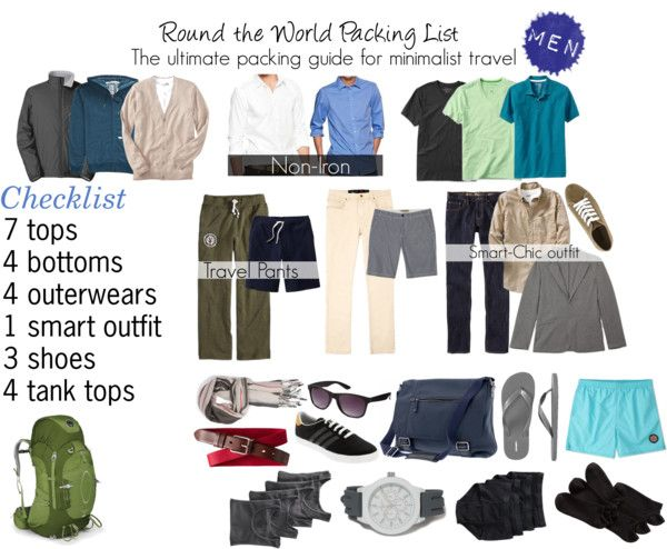 acf2b19a75 Are you going on a RTW trip  Check out my essentials packing list to help  you pack for your trip! This list is for male travelers