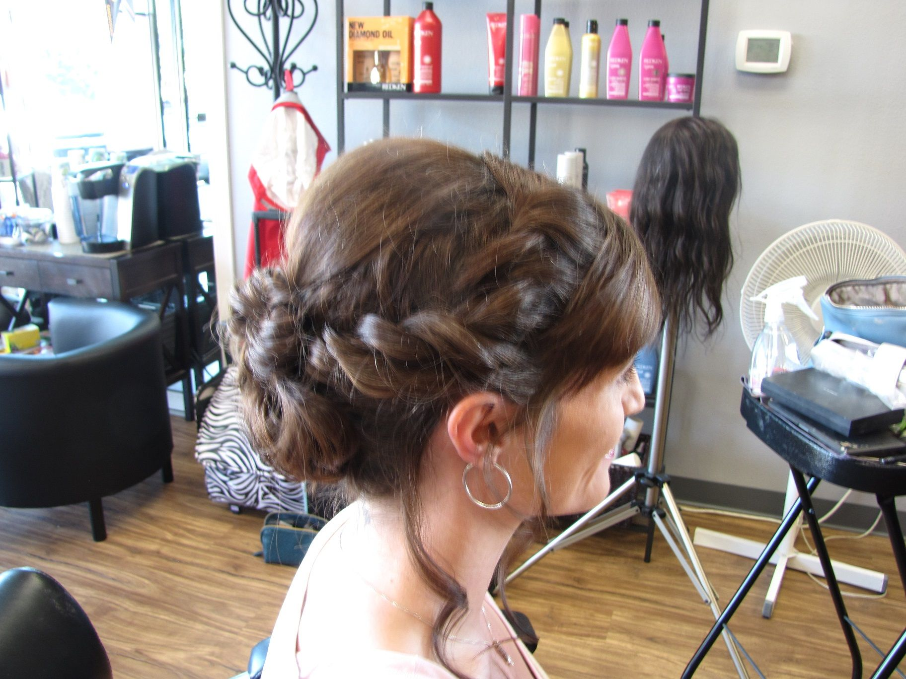 Kat A trial - twisted updo